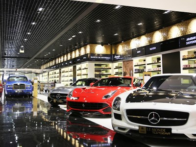 Car, Yacht and other vehicle show rooms often use fragrances to help make the sale.